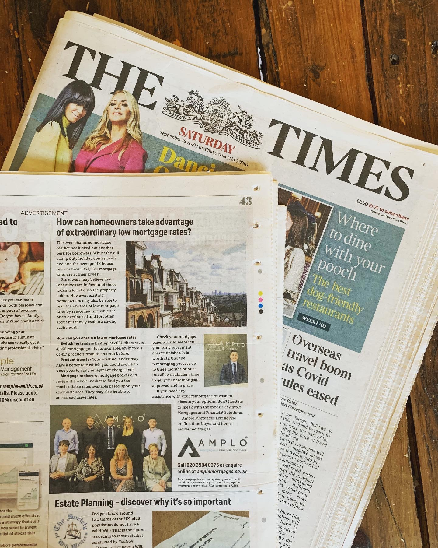 Amplo Mortgages featured in The Times & The Telegraph